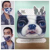 masques anti-poussière imprimés achat en gros de-À l'extérieur de coton à l'épreuve de la poussière Garder au chaud Demi-masque Masque Dessin animé Beau Chien Imprimer Masques Nouvelle Arrivée 3 8ak W