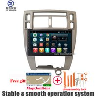 Wholesale Car Stereo Tv Hyundai - QZ industrial HD 10.2inch left-hand AT Android 6.0 for Hyundai Tucson 2004-2009 Car DVD player with Radio Navi GPS 3G 4G WIFI SWC RDS BT Map