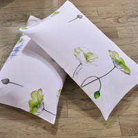 Wholesale pure cotton bedding - 2pcs Of Different White Theme soft Pillow Case For House And Hotel Bedding pure cotton pillow cover