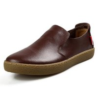 bonitos zapatos casuales de cuero al por mayor-Niza nuevos hombres zapatos de cuero genuino pisos de alta calidad Oxfords zapatos estilo de verano enredadera para hombres más el tamaño 28-66 PCD55