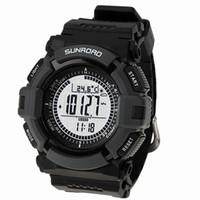 Wholesale Weather Barometers - Men's sport Digital-watch SUNROAD FR821A Altimeter Barometer Compass Thermometer Weather Pedometer Digital Watch
