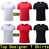 Wholesale Polo Shirt Custom - mens Designer T shirts Men's short-sleeved polo tshirt Cotton Custom Made women shirt Fashion Famous Brand Luxury T-shirt men designer shirt