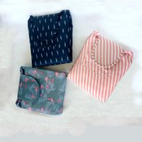 Wholesale wholesale pull ups - Cosmetic Bag Large Capacity Pulling Rope Lazy Make up Storage Pouch Fashion Oxford Waterproof Women Toiletry Bags 10 5js Y