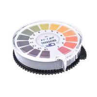alkalisches wasser versendet großhandel-0-14 PH-Testpapier 5 Meter Basensäure-Indikatorpapier für Wasserurin-Speichel Lackmus-Test Mess-Analyse-Kit