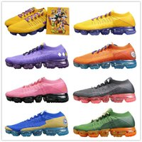 Wholesale fly seven - Seven Dragon Ball 2.0 Vapormax Fly Running Shoes 2018 Son Goku ID Limited TOP Fashion AAA+ Quality Athletic Sneakers