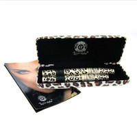 rimel leopardo envío gratis al por mayor-Love Alpha Black Leopard Mascara 1 caja tiene 2 pcs. Maquillaje Mascara Ojo Mascara Larga Pestaña Cepillo de silicona Envío libre de DHL