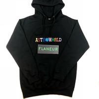 новые дизайнерские толстовки оптовых-2018 Astroworld толстовка мужская высокое качество дизайнер флис кофты бесплатная доставка вышивка хип-хоп пуловер новый Трэвис толстовки
