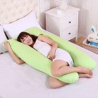 almohada de vientre al por mayor-Almohadas de cuerpo completo Sleeping Pregnancy Pillow Belly Contorno de maternidad en forma de U Mujeres mejor para Side Sleepers extraíble