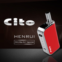 Wholesale vaporizer kits for oil resale online - Authentic HenruiVapor Cito C2 in Vaporizer Kit mAh Adjusted Voltage Preheat Battery For Wax and Thick Oil Cartridges Vape Pen Kit