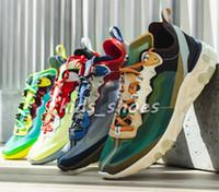 luces altas al por mayor-Nuevo React Element 87 para mujer para hombre de alta calidad diseñador de moda Sail Light señal de hueso azul verde niebla eléctrico amarillo zapatos ocasionales