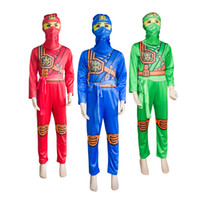 children dressing up clothes 2018 - Ninjago Cosplay Costume Boys Clothes Sets Children Halloween Fancy Party Dress Up Ninja Cosplay Suits Boy Jumpsuits