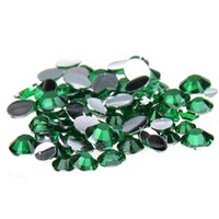 Wholesale Nail Art 5mm - 1000pcs set 2-5mm And Mixed Sizes Green Resin Rhinestones Non Hotfix Glitter Beauty For Nails Art Backpack DIY Design Decorations