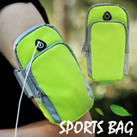 Wholesale earphone pocket - Universal Armband Sports Running Bag Case for iPhone 7Plus 8Plus for Samsung S9 Note 8 Waterproof Mobile Phone Earphone Keys Arm Bags Pouch