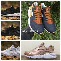 Wholesale body breathe - 2017 Huarache ID Custom Breathe Running Shoes For Men Women,Woman Mens navy blue tan Air Huaraches Multicolor Sneakers Athletic Trainers