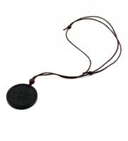 Wholesale scalar energy pendant for sale - Quantum Pendants Necklace Scalar Energy Pendant with Negative Ion Energy Pendant Black Lava Stone Jewelry Negative Ion Science Bio Pendant