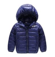 ingrosso migliori cappotti di vestito-Cappotto per bambini della collezione AMN più venduto nuovo vestito da bambino in cotone s ragazza colore puro cappello e leggera giacca imbottita in cotone -1618-2