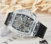 Wholesale orange center - 2018 aaa latest version of the silicone strap sports brand military men wath center clock calendar reloje manes watches the freedom of man