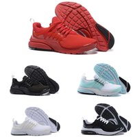 Wholesale Fine Fabrics - hot sale Running Shoes Fine Mesh Breathable Presto Blackout Cheap Sneaker Red Navy Blue Triple White Black Fall Olive air factory online run