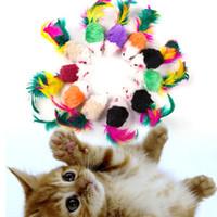 ingrosso gatto morso-Cat Toys 2 pollici Funny Cat Simulation Coda di colore Mouse giocattolo Pet Supplies usura e resistenza morso