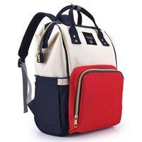 bebek bez çantası tasarımları toptan satış-Quenya 10 ADET DHL Ücretsiz Mumya Annelik Nappy Çanta Büyük Kapasiteli Bebek Çantası Seyahat Anne Sırt Çantası Tasarım Hemşirelik Çantası Bebek Bakımı için Bezi Çanta