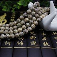 bracelet bois argent achat en gros de-Silver Line Naturel Bodhi Bracelets 108 Perles Taille 8mm Bois Chanceux pour Hommes Femmes Bouddhisme Bodhi Bracelet Bijoux