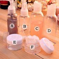 mini crema pequeña al por mayor-6 Unids / set Moda Mini Plástico Portátil Transparente Pequeñas Botellas de Crema Spray Vacía Para Viaje Maquillaje Cuidado de la Piel Recargable