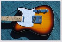 guitarra arca telecaster al por mayor-Venta al por mayor Guitar Factory Alta calidad Telecaster Guitarra Maple Fingerboard Sunburst tele Guitarra Eléctrica Chrome Hardware envío gratis