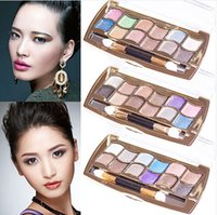 Wholesale bright palette - New arrive Hot Sale 12 Colors Diamond Bright Colorful Eye Shadow Palette Super Flash Glitter Makeup