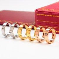 anillos de uñas masculinas al por mayor-Joyas de marca Venta al por mayor de boutiques contratada vendiendo Nailed ring carter lovers ring para roscas macho y hembra a Wide Edition 6mm