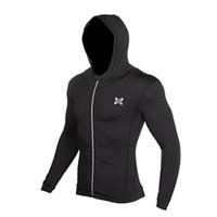 спортивные майки оптовых- Running Jacket Men Breathable Quick-drying Running Jersey Windproof Coat Outdoor Sports Hiking Run Hooded