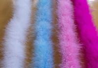bufanda de plumas al por mayor-Venta al por mayor 10 unids Bufandas de plumas flor Ramos de longitud 2M Marabou Feather boa craft boda