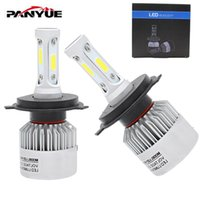 2Pcs H4 LED H7 H11 H1 H3 COB Chip S2 Auto Car Headlight 72W 8000LM High Low Beam All In One Automobiles Lamp 6500K 12V
