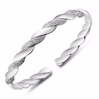 симпатичные браслеты оптовых-whole saleJEXXI 2016 Silver Bracelt For Women Pretty Lady Bangle Lover Fashion Brand Design Bracelets Bangles Jewelry Free Shipping