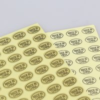 ingrosso sacchetti di alta porcellana-azione libera di alta qualità 9 * 13mm 15 fogli / sacchetto trasparente chiaro oro MADE IN CHINA autoadesivo adesivo etichetta di carta