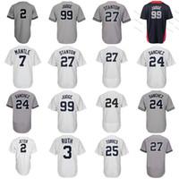 Wholesale mantle man - New York 99 Aaron Judge 25 Gleyber Torres 24 Gary Sanchez Didi Gregorius Stanton Mickey Mantle Babe Ruth 2 All Star Jerseys