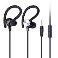evrensel müzik mp3 toptan satış-JY-A1 mikrofon ile kulak kancası evrensel kulaklık spor kulaklık müzik güçlü bas in-kulak iphone samsung cep telefonu için mp3 düz kablo