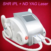 Wholesale laser hair machine q for sale - 3IN1 ND Yag laser for tattoo removal ipl shr elight hair removal skin rejuvenation Q switch nd yag laser machine
