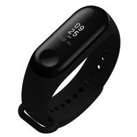 браслет активности оптовых-Оригинал Xiaomi Mi Группа 3 Смарт браслет 0.78 OLED-дисплей монитор сердечного ритма 50 м водонепроницаемый браслет шагомер активности трекер
