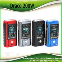 Wholesale mod full - Authentic Modefined Draco 200w Box Mod With Dual 18650 Batteries 2inch Full Color Screen Ecig Vape Mods 100% Genuine