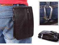 clip de bolsas de teléfono al por mayor-Funda de cuero genuino de lujo del bolso de la cintura para Sony Xperia XZ1 XA1 Ultra Clip de cinturón Funda Funda para teléfono móvil Funda