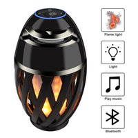 Wholesale Mp3 Modern - Bluetooth Speaker led flame lamp New LED Flame Lamp Bluetooth Speaker Touch Soft Light Christmas gift MP3 Player Speakers in stock by DHL