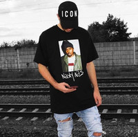 chemises de rappeur achat en gros de-17FW Box logo Hip Hop Nasty PHOTO Tee Skateboard Cool Rapper T-shirt Hommes Femmes Casual Tee Mode HFLSTX022