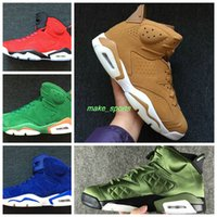 Wholesale Pine Silver - Be Like Mike White Green VI UNC Retro 6 NRG G8RD Pine Green Gatorade 6 Suede Maroon GATORADE 6s Men Basketball Shoes Sneakers Wheat Suede