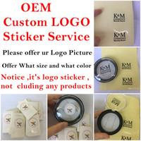 autocollant d'emballage de détail achat en gros de-OEM personnalisé logo service autocollant pour custom's ont propre paquet de marque comme 3D vison eyelashe magnétique cils et boîte de détail de dissolvant de cheveux