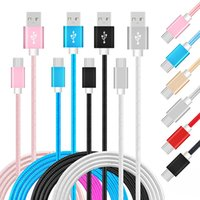 Wholesale tablet typing - 3FT 6FT 10FT Fast Sync USB Charging Cable High Quality Nylon Braided Charge Cables For Phones Tablet PC