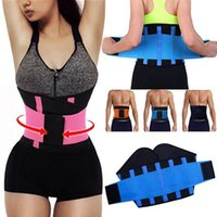 Wholesale men s body belt - Women Men Adjustable Waist Trainer Trimmer Belt Fitness Body Shaper Back Support For An Hourglass Shaper Black Pink Green Blue Yellow Mk63