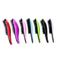 kullanılmış çocuk toptan satış-Sihirli Saç Şekillendirme Salon Dolaşık Açıcı Tarak Çocuklar 7 renklerle Saç Fırçası Tarak Arapsaçı Saç Bakımı kullanmak