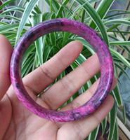 ingrosso braccialetto del braccialetto di giada 62mm-Cinturino in pregiato braccialetto Lushan Red Jade diametro interno 62mm