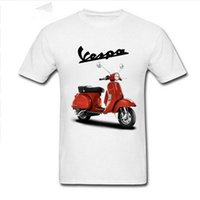 Wholesale vintage vespa scooters resale online - Best Selling Vintage Vespa t shirts men Vespa motorcycle scooter t shirts homme Piaggio tshirt logo print tee shirt hombre camis custom