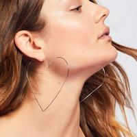 ingrosso grandi gioielli sexy-WholeSuper Sexy Big Hollow Heart Hoop per le donne di grandi dimensioni orecchini gioielli dichiarazione di amicizia